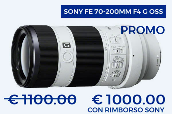 Sony 70-200mm f4 promo cashback disponibile